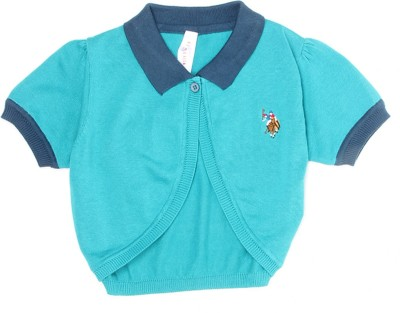 US Polo Kids Girls Shrug at flipkart