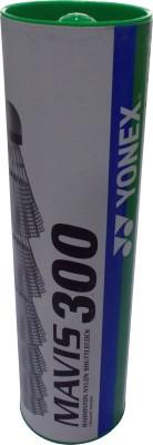Yonex Mavis 300 Plastic Shuttle  - White(Slow, Pack of 6)  available at flipkart for Rs.999