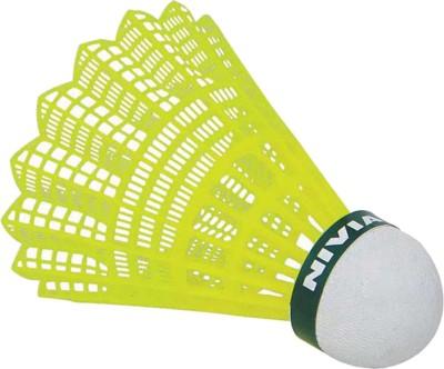 Nivia Nylon Nylon Shuttle  - Green, Yellow(Medium, 77, Pack of 6)