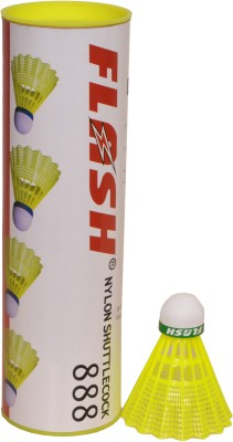 Flash Cock 888 Nylon Shuttle  - Yellow(Slow, 77, Pack of 6)  available at flipkart for Rs.454