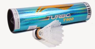 Li Ning Turbo T900 Nylon Shuttle   White Medium, 77, Pack of 7
