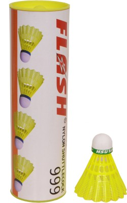 Flash Cock 999 Nylon Shuttle  - Yellow(Slow, 77, Pack of 6)  available at flipkart for Rs.464