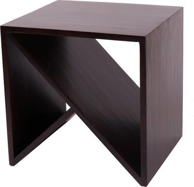Wood Dekor Solid Wood End Table(Finish Color - Dark Brown)