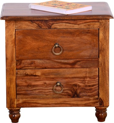 Ringabell Solid Wood Bedside Table(Finish Color - Mahogany)