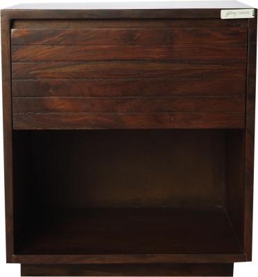 Godrej Interio Gruvz Solid Wood Side Table(Finish Color - AMERICAN WALNUT)