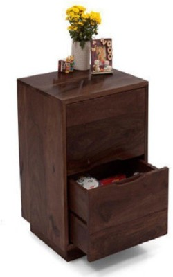 Ringabell Two Drawer Solid Wood Bedside Table(Finish Color - Teak & Mahogony)