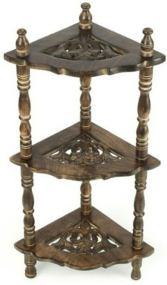 Etsi Bitsi EB_KS_001* Solid Wood Corner Table(Finish Color - Oxidized Brown)