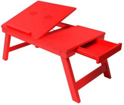Onlineshoppee CAC Solid Wood Side Table(Finish Color - Dul Red)
