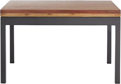 WOOD CREATION Metal Side Table(Finish Color - Walnut)