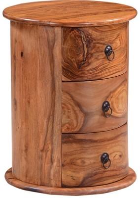 Ringabell Levoke Solid Wood End Table(Finish Color - Walnut)