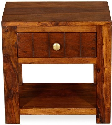 Ringabell Jaron Solid Wood Bedside Table(Finish Color - Teak Finish)