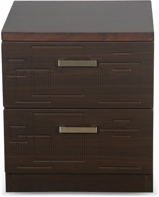 Godrej Interio Squadro Engineered Wood Bedside Table(Finish Color - Cinammon)