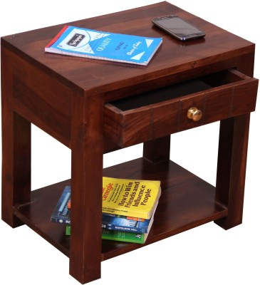 Induscraft Solid Wood Bedside Table(Finish Color - CHERRY (105))
