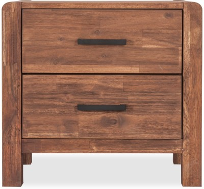Durian WILLIAM/NT Solid Wood Bedside Table(Finish Color   Walnut) Best Side