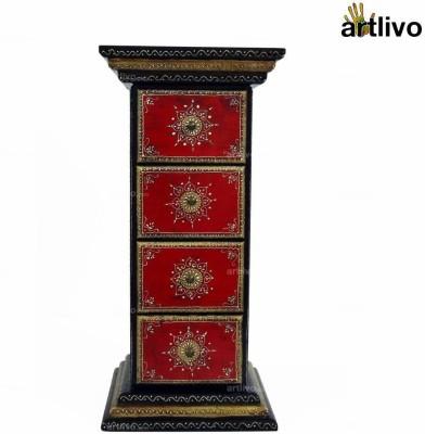 Artlivo Solid Wood Side Table(Finish Color - Multicolor)
