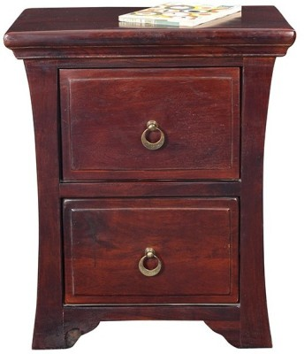 Ringabell Solid Wood Bedside Table(Finish Color - Mahogany Finish)