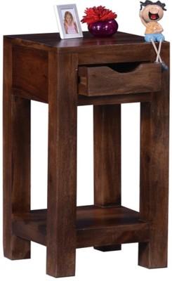 Ringabell Edifice Solid Wood End Table(Finish Color - Teak)