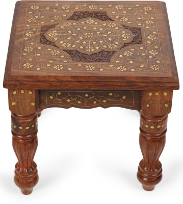 Decorhand Solid Wood Side Table(Finish Color - Brown)