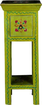 Kingscrafts Solid Wood Side Table(Finish Color - Light Green)