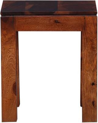 Ringabell Genus Solid Wood End Table(Finish Color - Teak)