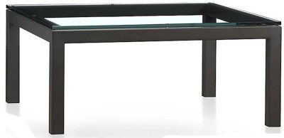 WOOD CREATION Glass Side Table(Finish Color - Black)