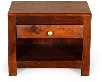 Ringabell EMMY Solid Wood Bedside Table(Finish Color - Teak)