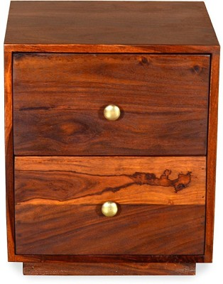 Ringabell Karly Solid Wood Bedside Table(Finish Color - Teak)