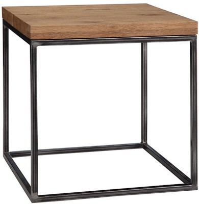 WOOD CREATION Metal Side Table(Finish Color - Teak)