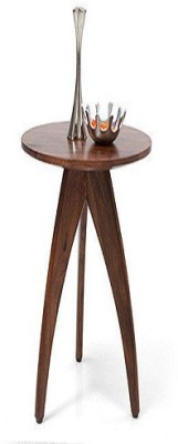 Ringabell Round Solid Wood End Table(Finish Color - Mahogany & Teak)