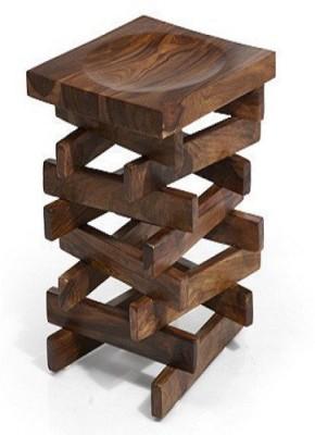 Ringabell Zig Zag Solid Wood End Table(Finish Color - Mahogany & Teak)