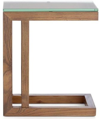 WOOD CREATION Engineered Wood Side Table(Finish Color - Teak)