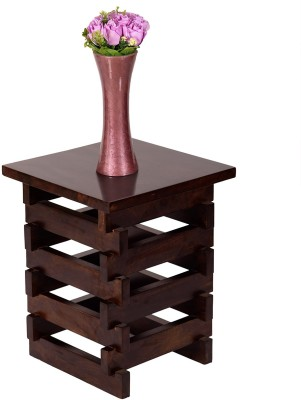 Wood Dekor Solid Wood End Table(Finish Color - Brown)