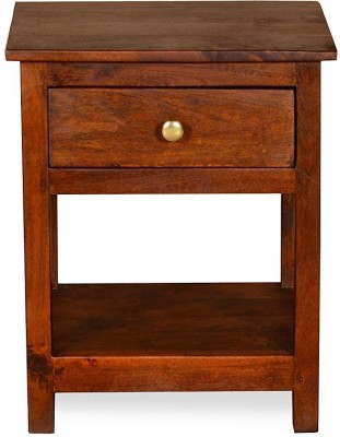 Ringabell Karlo Solid Wood Bedside Table(Finish Color - Teak)