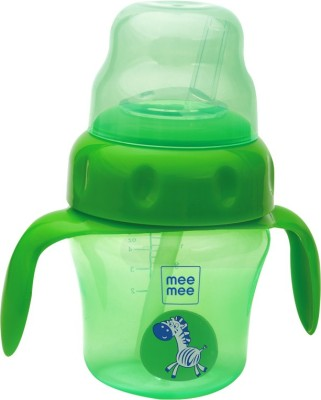 MeeMee 2-in-1 Spout and Straw Sipper Cup(Green)