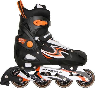 Nivia Speed Classsic In-line Skates - Size 37-40 Euro(Black, Orange)
