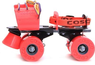 Cosco Zoomer Quad Roller Skates - Size 1-8 UK(Pink)