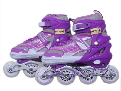 Dezire adjustable skates In-line Skates - Size 7-9 UK(Purple)