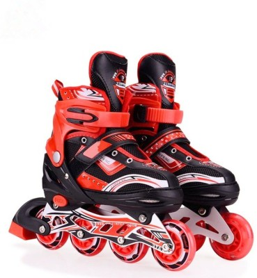 Hoteon Skating Shoe have different size and with PU LED wheel In-line Skates - Size 2-5 UK(Red)