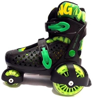 Nivia Junior Quad Roller Skates - Size 12-2 UK(Black)