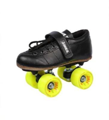 JJ Jonex CLASSIC GOLD SHOES Quad Roller Skates   Size 9 UK Black