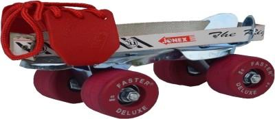 Jonex Faster Baby Quad Roller Skates - Size 0-2.5 UK(Red)