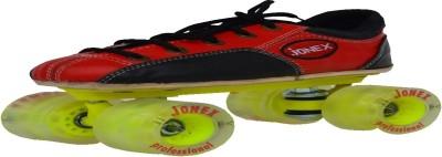 Jonex Professional Quad Roller Skates - Size 4.5 UK(Black, Red)