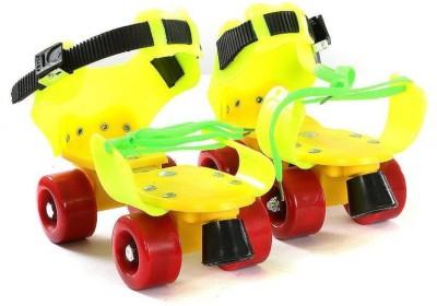BES BES Plastic Skates Quad Roller Skates - Size 5-7 UK(Green, Blue, Pink)