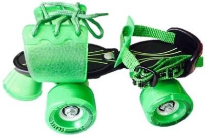Jaspo Marshal Quad Roller Skates - Size 1-5 UK(Black, Green)