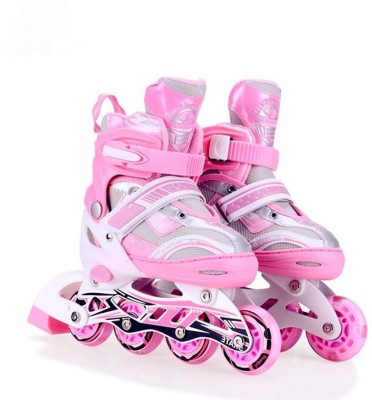 Hoteon Skating Shoe have different size and with PU LED wheel In-line Skates - Size 5.5-7.5 UK(Pink)