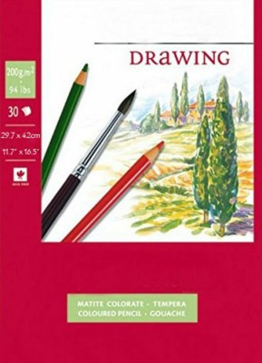 Shrih Drawing 200 GSM A3 Sketch Pad Red, 30 Sheets