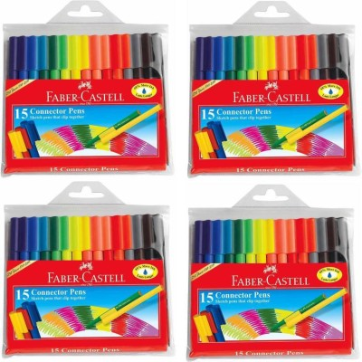 Faber-Castell connector pens fine Nib Sketch Pen(Multicolor)