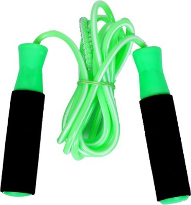 shital jump in adults and kids ball bearing skipping rope green ( color may vary) Ball Bearing Skipping Rope(Multicolor, Pack of 1)  available at flipkart for Rs.125
