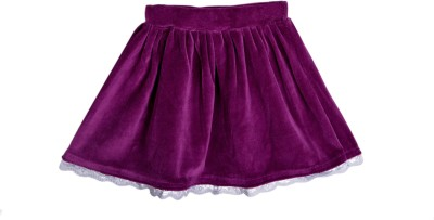 Lil Orchids Solid Baby Girls Gathered Purple Skirt  available at flipkart for Rs.279