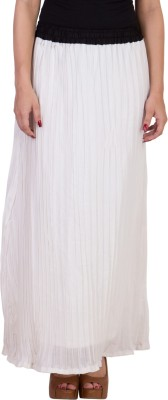 Curvyy Solid Women A-line White Skirt